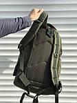 Качественный тактический рюкзак на 40 литров, хаки, фото 4