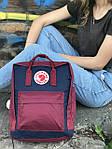 Женский cпортивный рюкзак Kanken, бордовый, фото 3