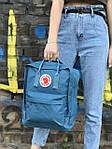 Женский cпортивный рюкзак Kanken, голубой, фото 3