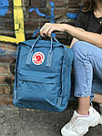 Женский cпортивный рюкзак Kanken, голубой, фото 6