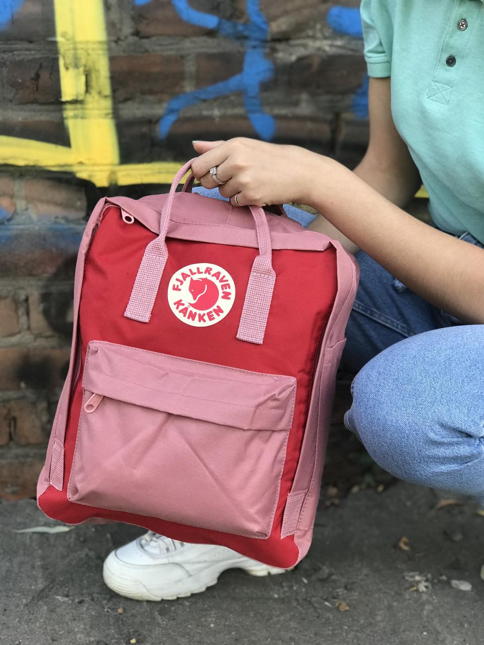 Женский cпортивный рюкзак Kanken, розовый