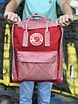 Женский cпортивный рюкзак Kanken, розовый, фото 2
