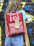 Женский cпортивный рюкзак Kanken, розовый, фото 5