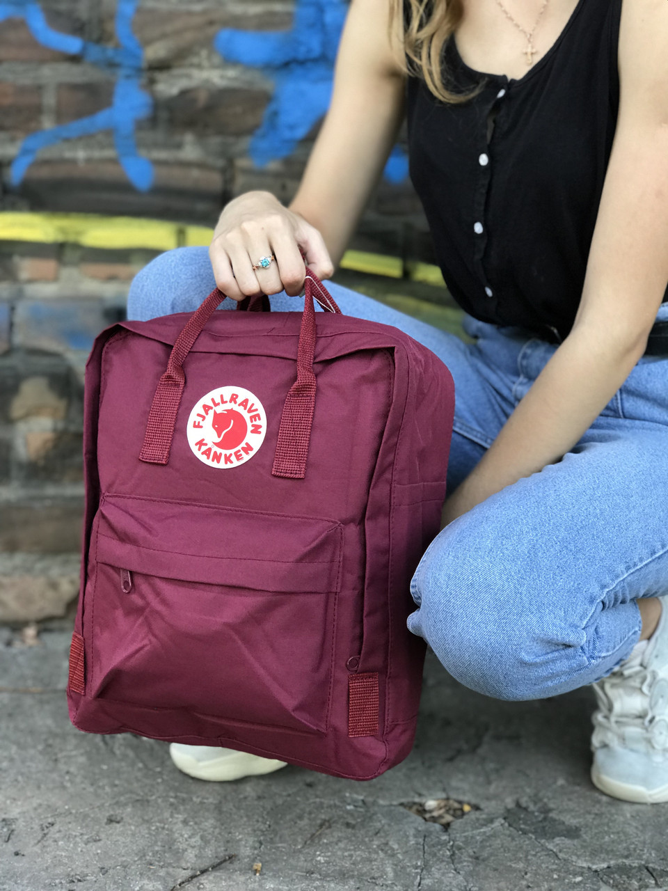 Бордовый рюкзак Fjallraven Kanken