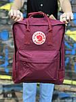 Бордовый рюкзак Fjallraven Kanken, фото 2