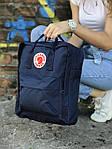 Синий рюкзак Fjallraven Kanken, фото 2