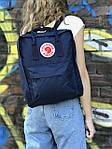 Синий рюкзак Fjallraven Kanken, фото 3
