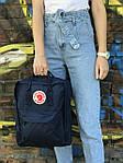 Синий рюкзак Fjallraven Kanken, фото 4