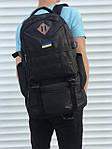 Черный мужской повседневный рюкзак с рассувным дном, 40л + 5л, фото 2