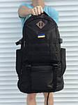 Черный мужской повседневный рюкзак с рассувным дном, 40л + 5л, фото 3