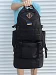 Черный мужской повседневный рюкзак с рассувным дном, 40л + 5л, фото 5