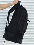 Черный мужской повседневный рюкзак с рассувным дном, 40л + 5л, фото 6