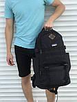 Черный мужской повседневный рюкзак с рассувным дном, 40л + 5л, фото 7