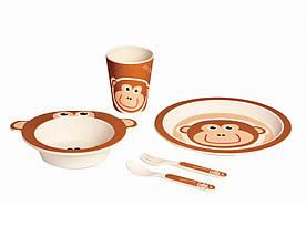 Детский набор посуды 5 пр обезьянка Con Brio СВ-254