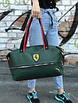 Женский спортивная сумка Puma Ferrari, зеленая, фото 2