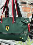 Женский спортивная сумка Puma Ferrari, зеленая, фото 3