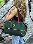 Женский спортивная сумка Puma Ferrari, зеленая, фото 4