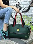 Женский спортивная сумка Puma Ferrari, зеленая, фото 5