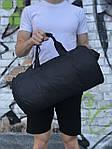 Мужская спортивная сумка в стиле Reebok, черная с белым логотипом, фото 3