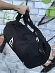 Мужская спортивная сумка в стиле Reebok, черная с белым логотипом, фото 4