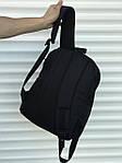 Качественный черный рюкзак с гербом (17 л) черный, фото 4
