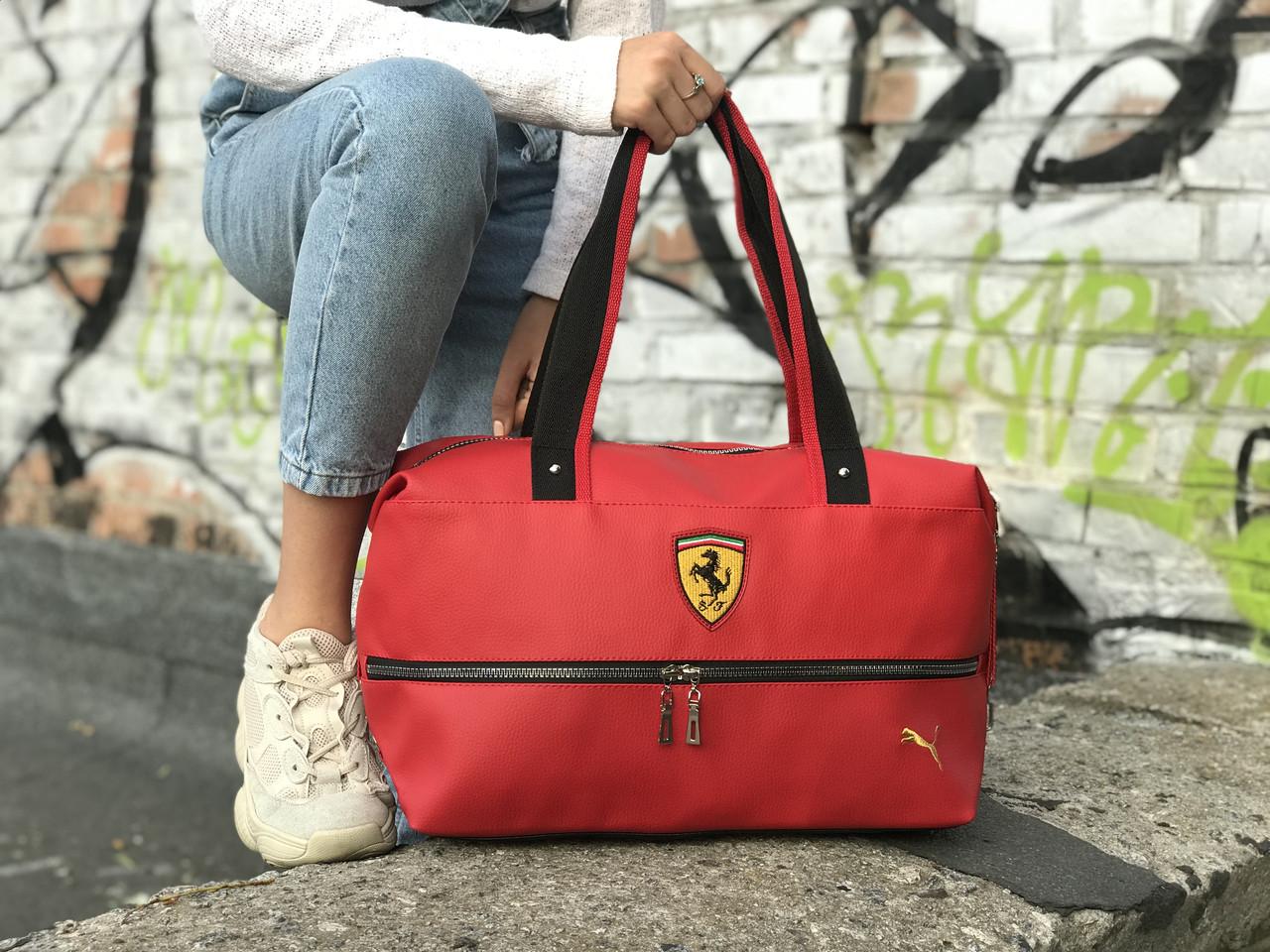Спортивная сумка Puma Ferrari, красная