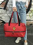 Спортивная сумка Puma Ferrari, красная, фото 2