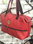 Спортивная сумка Puma Ferrari, красная, фото 3