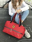 Спортивная сумка Puma Ferrari, красная, фото 5
