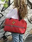 Спортивная сумка Puma Ferrari, красная, фото 6