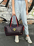 Женский спортивная сумка Puma Ferrari, темно фиолетовая, фото 3
