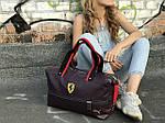Женский спортивная сумка Puma Ferrari, темно фиолетовая, фото 5