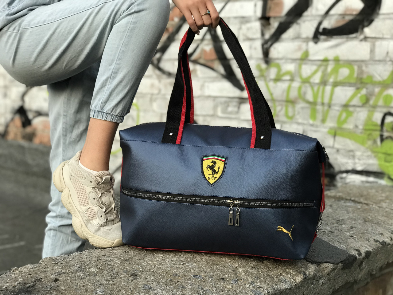 Женский спортивная сумка Puma Ferrari, синяя