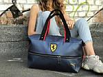 Женский спортивная сумка Puma Ferrari, синяя, фото 5