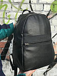 Качественный кожаный рюкзак для школы и спорта, Calvin Klein, фото 5
