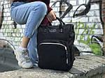 Женский стильный черный рюкзак, фото 2