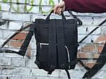 Женский стильный черный рюкзак, фото 3