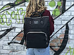 Женский стильный черный рюкзак, фото 4