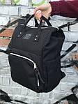 Женский стильный черный рюкзак, фото 5