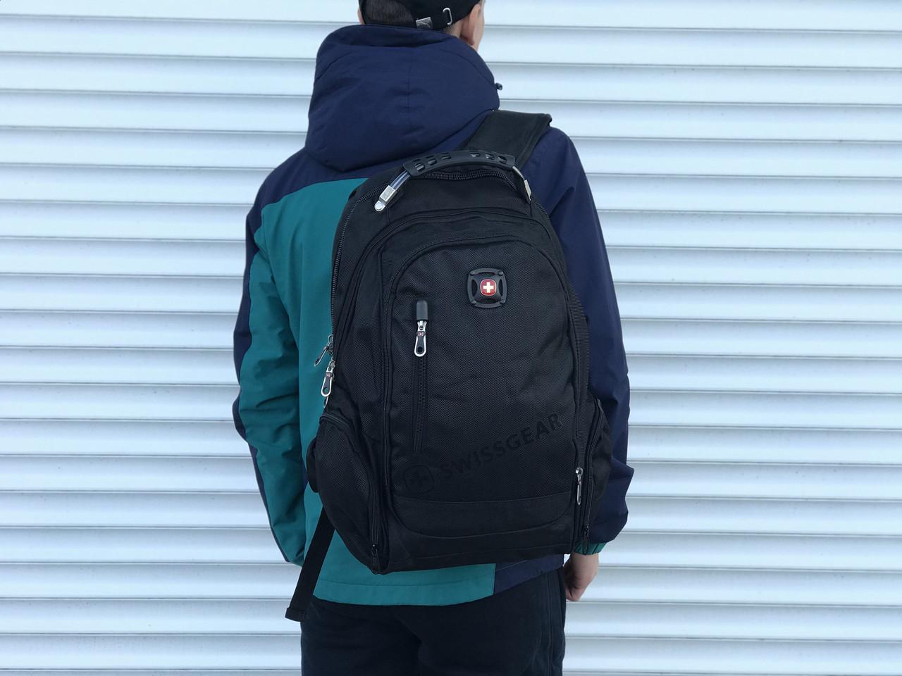Поаседневный качественный рюкзак Swissgear, черный
