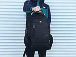Поаседневный качественный рюкзак Swissgear, черный, фото 3