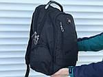 Поаседневный качественный рюкзак Swissgear, черный, фото 5
