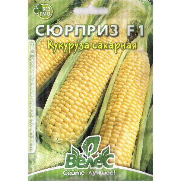 """Семена кукурузы среднеспелой, сахарной """"Сюрприз"""" F1 (15 г) от ТМ """"Велес"""""""