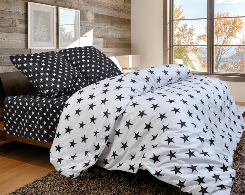 Постельное белье (полуторка) со звездами