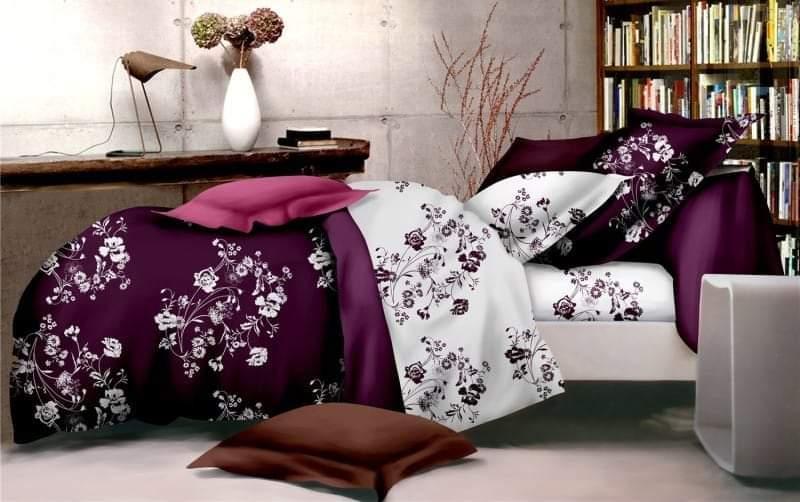 Стильное постельное белье полуторное цветы