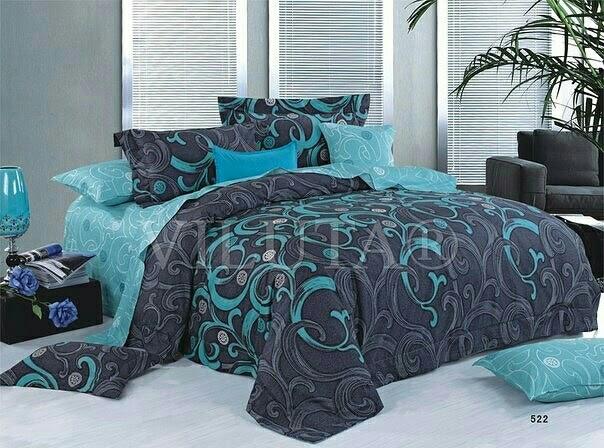 Стильное постельное белье отличного качества, полуторка, изумруд