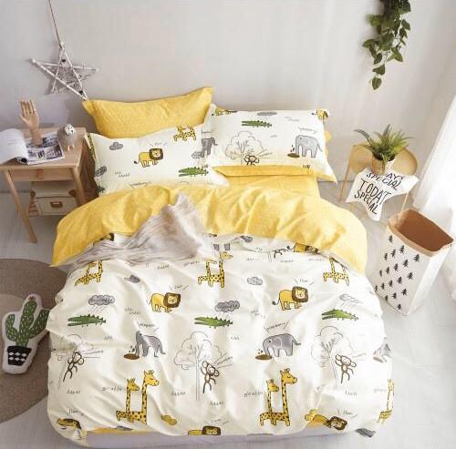 Комплект постельного белья Евро - Крокодил