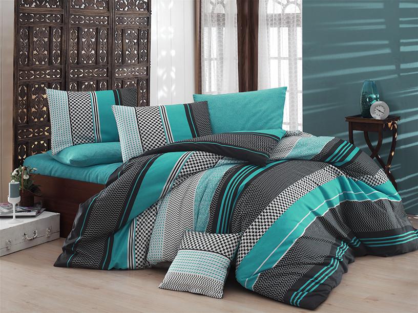 Комплект постельного белья Евро - Нефрит 1
