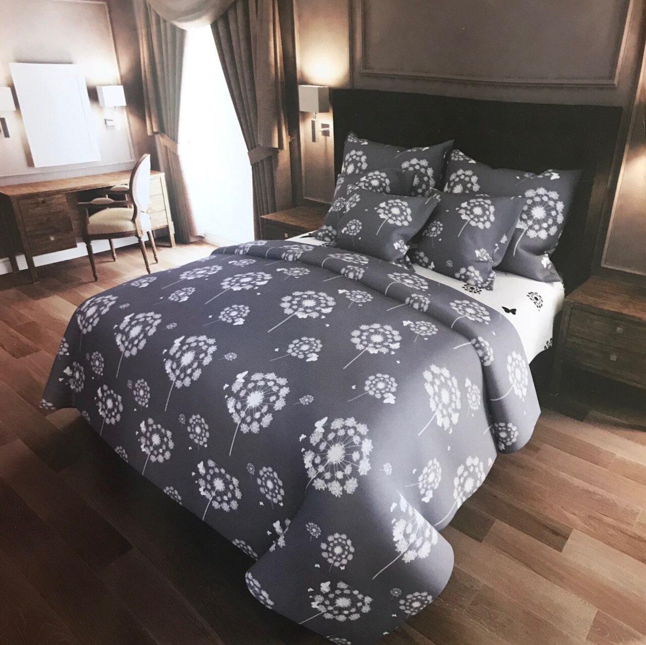 Комплект постельного белья Евро - Одуванчик бабочки