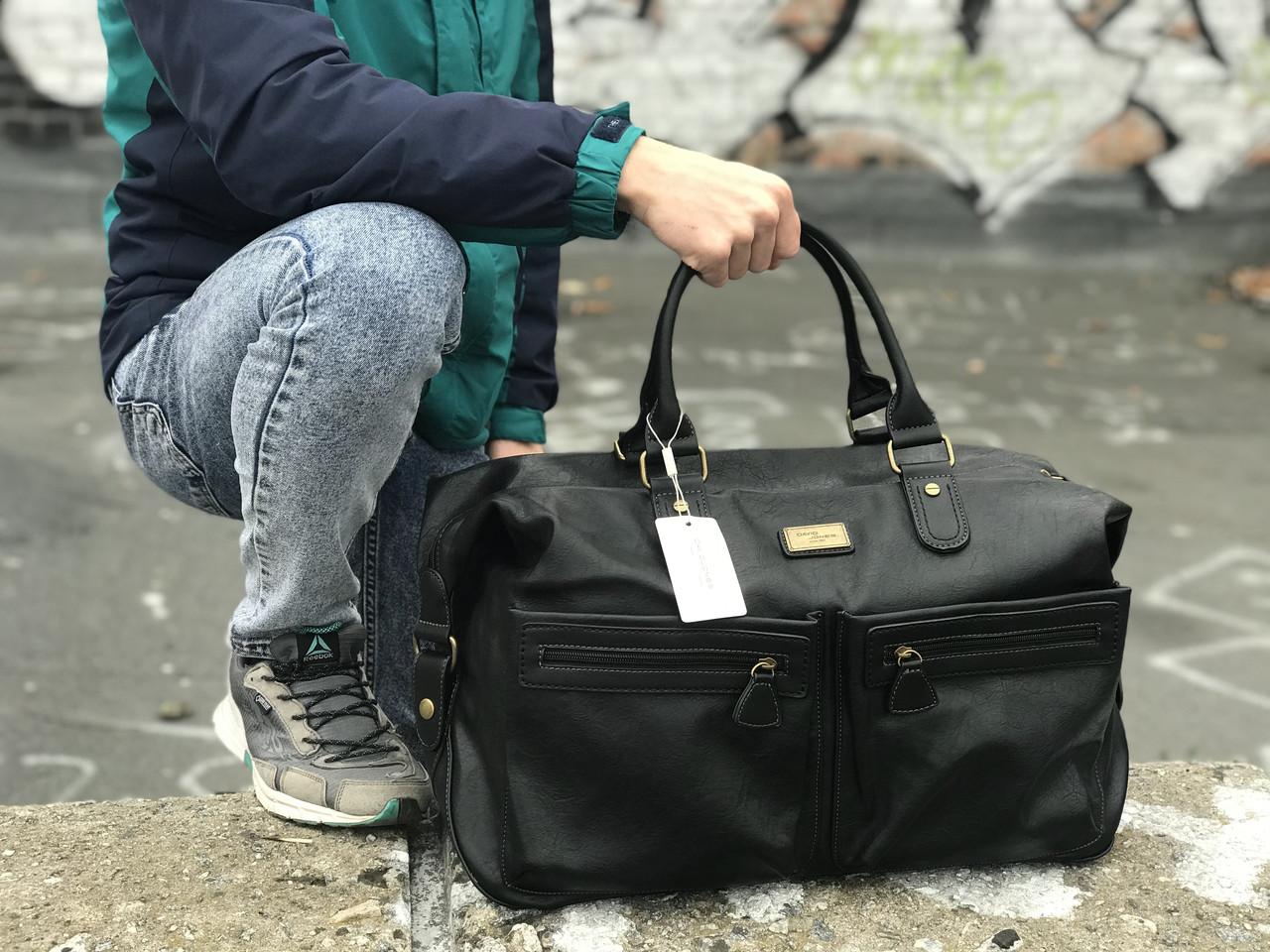 Черная сумка из натуральной кожи David Jones